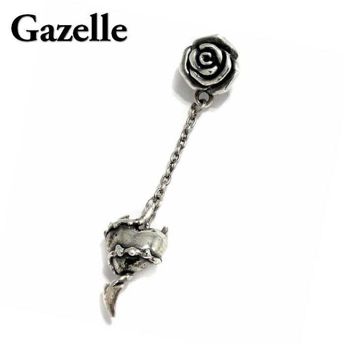 【Gazelle/ガゼル】デビルハート ピアス デビル ハート イバラ 薔薇 バラ ローズ ローズピアス 茨 棘 heart devil シルバー