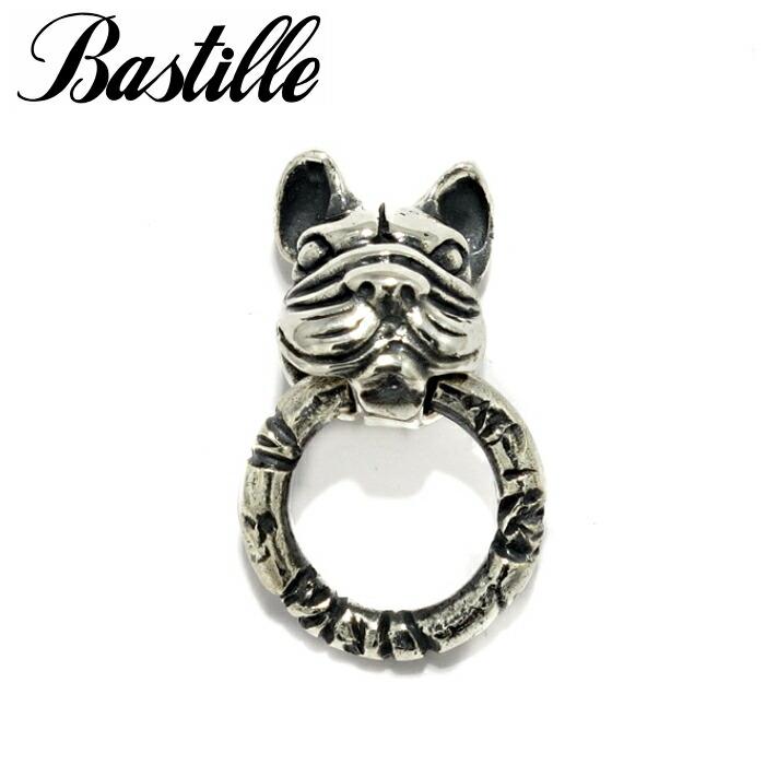 【Bastille/バスティーユ】ルシアン w/リング ピアス シルバー925 フレンチブルドッグ アニマルピアス 犬 DOG ブルドッグ マリーアントワネット ペット