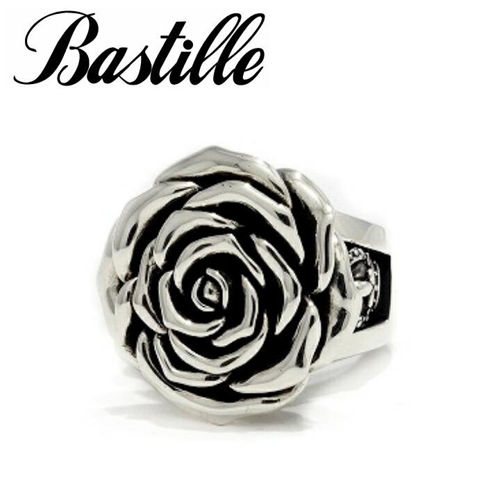 【Bastille/バスティーユ】ラグランドローズリング シルバー リング 薔薇 クラウン 王冠 立体 大ぶり
