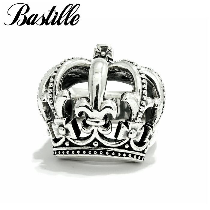【Bastille/バスティーユ】フィルリング シルバー リング 王冠 クラウン 立体 925 Lily 百合