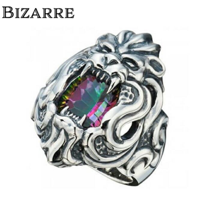 【BIZARRE/ビザール】マリスシルバーリング Lサイズ ライオンリング アニマル メンズ 指輪 シルバー925 SILVER925