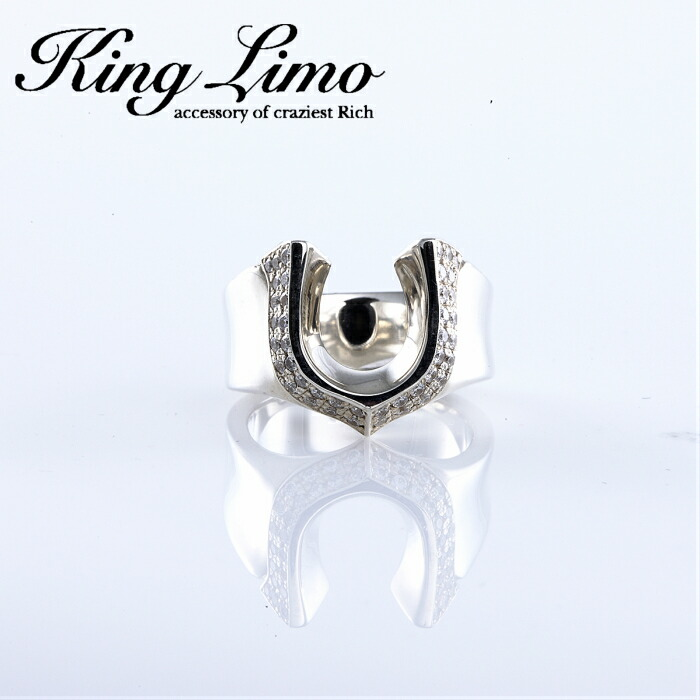 【King Limo/キングリモ】ハイローラーリング ホースシューリング 馬蹄 メンズアクセ silver925 メンズアクセサリー シルバー925 メンズギフト