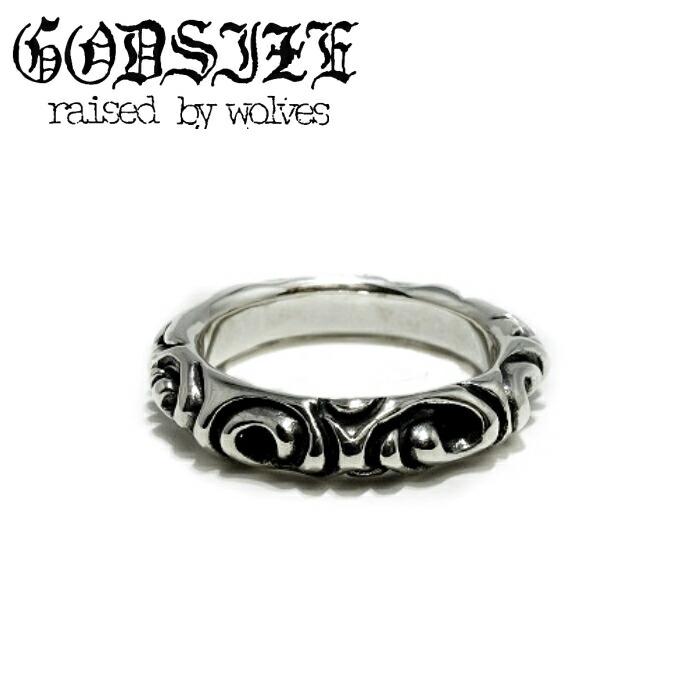 【GODSIZE/ゴッドサイズ】INFINITY RING シルバー リング メンズ 細身 インフィニティ―