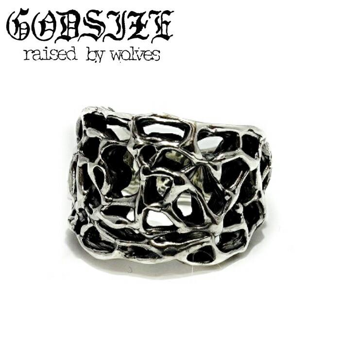 【GODSIZE/ゴッドサイズ】ROSETTE RING/ロゼットリング ロゼッターリング シルバー925 リング メンズ 薔薇 ローズ