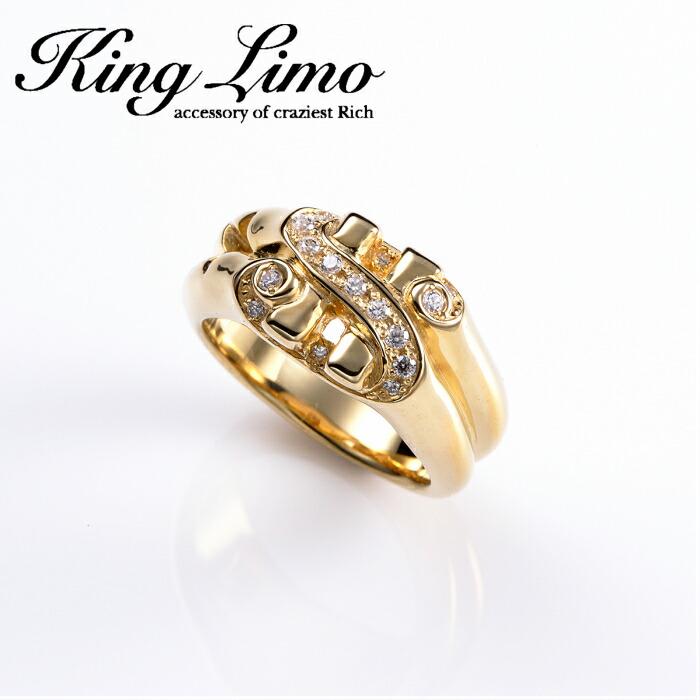 【King Limo/キングリモ】TINY DOLLER RING/タイニードラーリング シルバー ドル アクセ CZ $ silver925