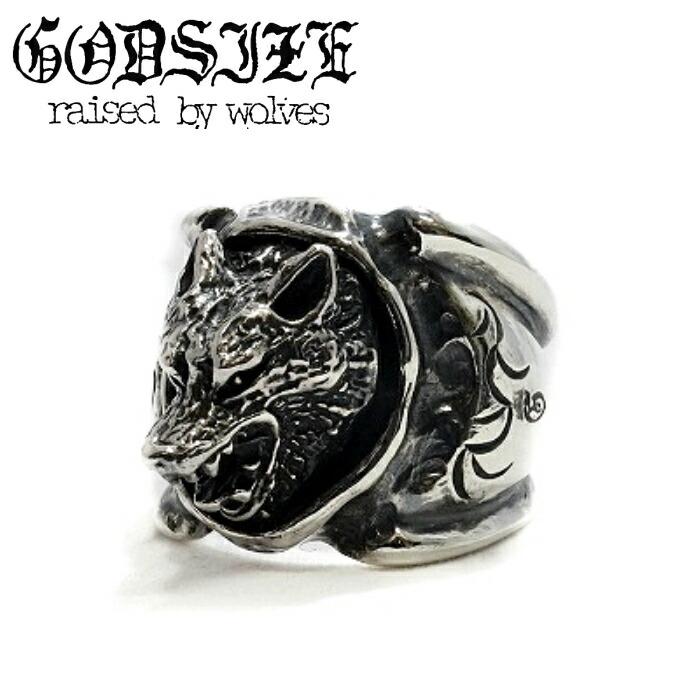 【GODSIZE/ゴッドサイズ】EXTRA HEAVEY WOLF RING ウルフリング 狼 SUGIZO 着用アクセサリー アニマル メンズアクセサリー