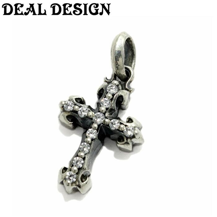 【DEAL DESIGN/ディールデザイン】インセクトクロス 十字架 チャーム クロス パヴェ ユニセックス メンズアクセサリー シルバーアクセサリー Silver925 cross charm