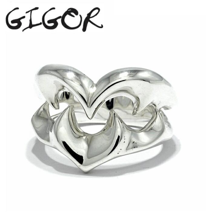【GIGOR/ジゴロウ】トライバルハートリング メンズリング ペアリング シンプルリング 指輪 シルバー925 リング 唐草 シンプル ハート