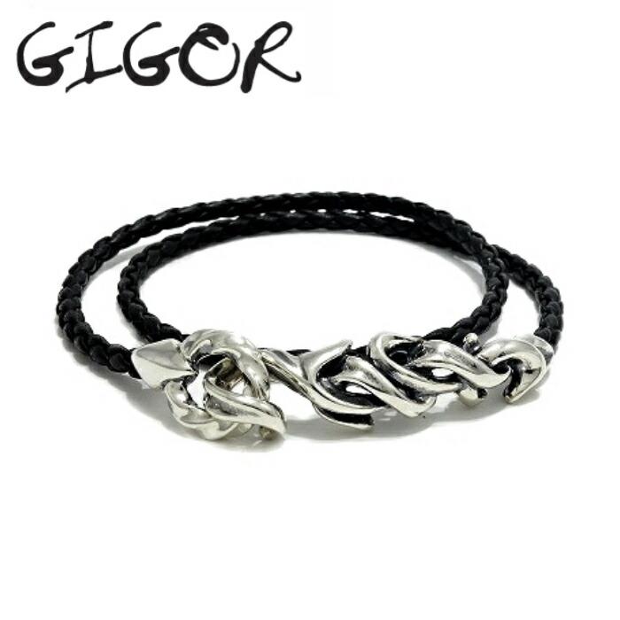 【GIGOR/ジゴロウ】グローションレザーブレスレット レザーブレスレット 革 シルバー925 メンズ ギフト