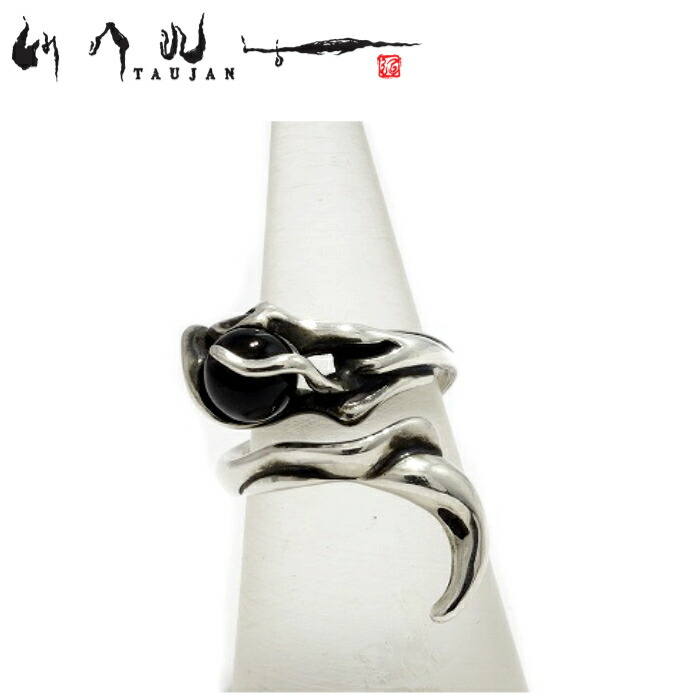 【TAUJAN/タウジャン】292-03/Onyx オニキス シルバー925 シルバーアクセサリー 脈 広島 メンズ リング 指輪 メンズアクセサリー シルバー925