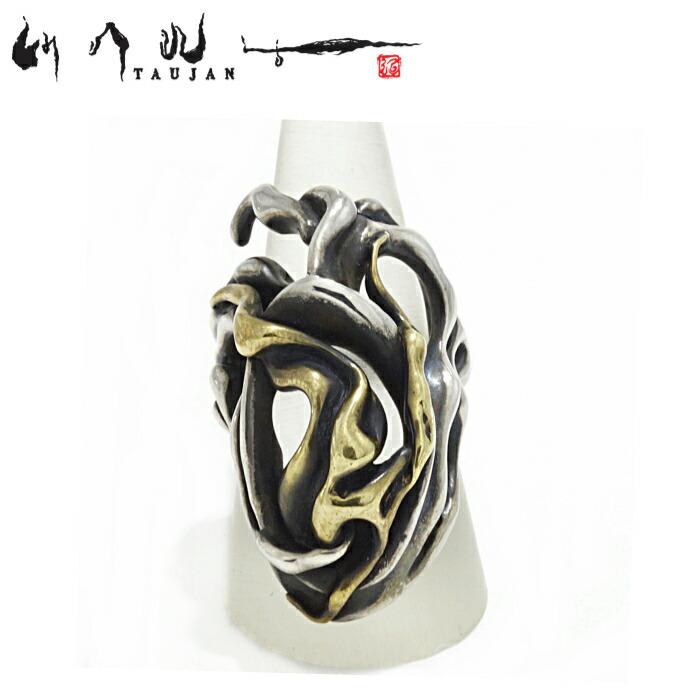 【TAUJAN/タウジャン】252-03/Silver×Brass リング 脈 シルバー925 広島 メンズ リング 指輪 メンズアクセサリー