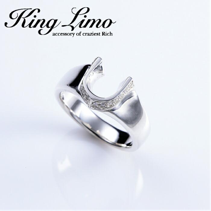 【King Limo/キングリモ】マイクロハイローラーリング ホースシューリング 馬蹄 アクセ CZ silver925 メンズアクセサリー シルバー925 メンズギフト