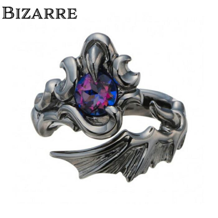【BIZARRE/ビザール】ミスティックデビルシルバーリング メンズ 指輪 翼 ゴシック 黒 フリーサイズ シルバー925 SILVER925