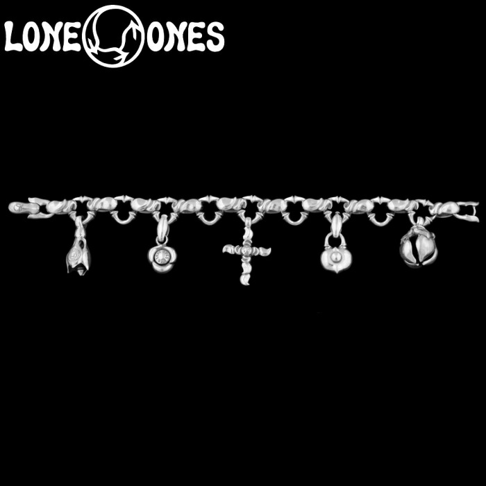 【LONE ONES/ロンワンズ】Kiss & Flow /K&F Charm Small Caresses Bracelet / キスアンドフロー チャーム ブレスレット スモール カレシス シルバーアクセサリー シルバー925 Silver925 ブレス