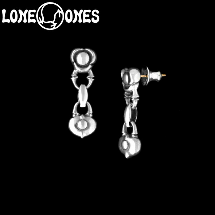 【LONE ONES/ロンワンズ】Kiss & Flow / Flow Link with Heart Rock Earring / フロー リンク ウィズ ハート ロック イヤリング シルバーアクセサリー シルバー925 Silver925 ピアス
