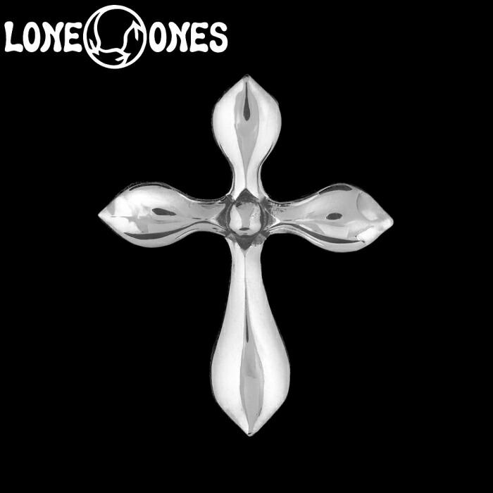 【LONE ONES/ロンワンズ】Kiss & Flow / Tear Cross Pendant -XS-/ ティアー クロス ペンダント エクストラスモール シルバーアクセサリー シルバー925 Silver925 トップ