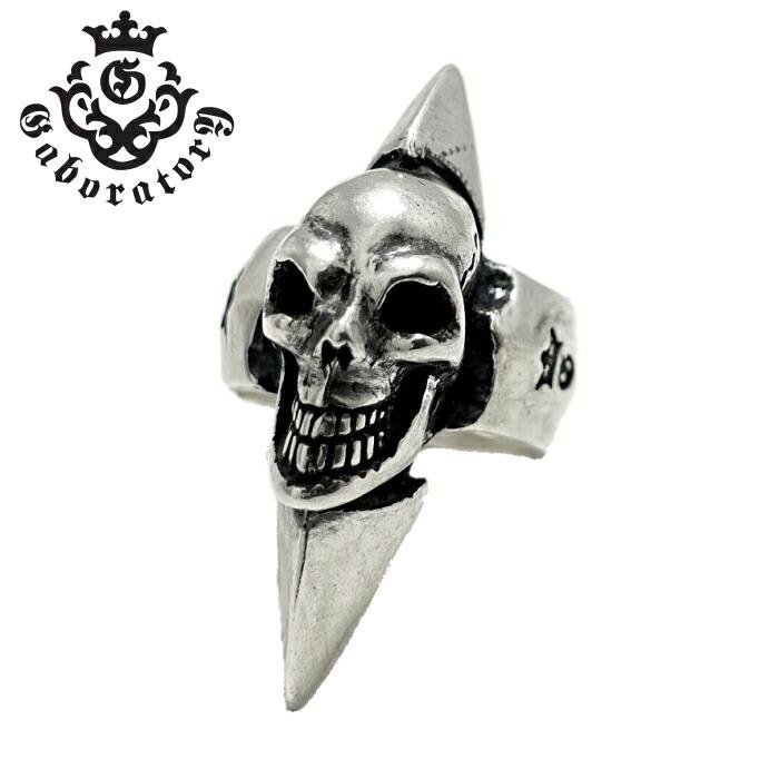 【Gaboratory/ガボラトリー】Skull with spike ring/スカルウィズスパイクリング ハッピースカルリング シルバーアクセサリー メンズアクセサリー silver925 シルバーリング スカル