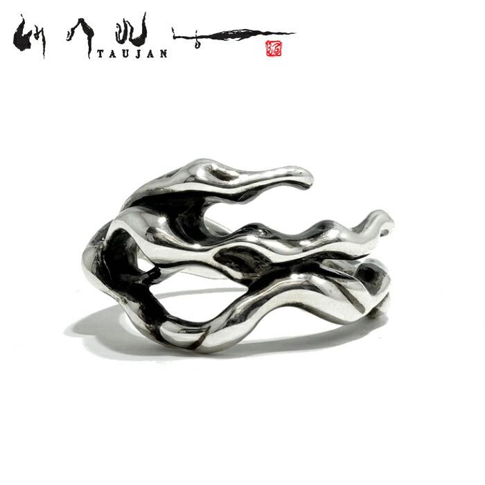 【TAUJAN/タウジャン】188-04 シルバーアクセサリー 脈 メンズ リング 指輪 メンズアクセサリー シルバー925