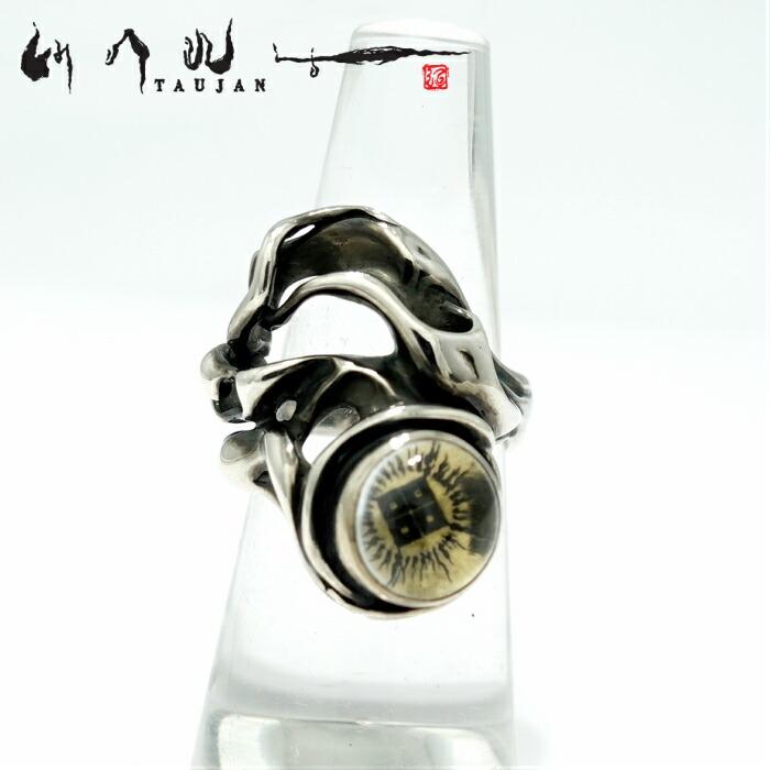 【TAUJAN/タウジャン】256-01B リング 水晶 真鍮 脈 シルバーアクセサリー メンズ リング 指輪 メンズアクセサリー シルバー925