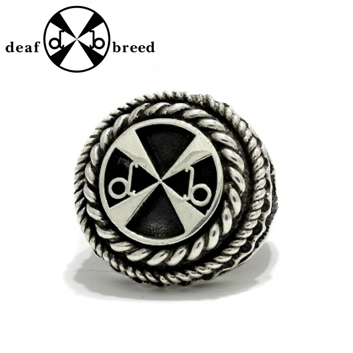 【deaf breed/デフブリード】R-64 ロゴリング 印台リング シルバーアクセサリー メンズ