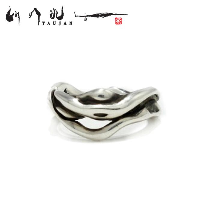 【TAUJAN/タウジャン】268-06 シルバーアクセサリー 脈 メンズ リング 指輪 メンズアクセサリー シルバー925