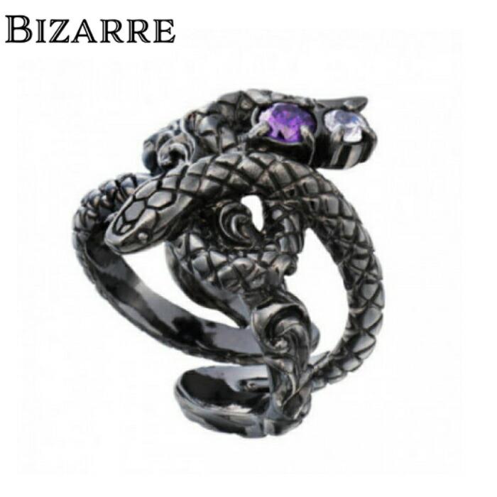 【BIZARRE/ビザール】サーペントシルバーリング 蛇 スネークリング シルバー925 SILVER925 爬虫類