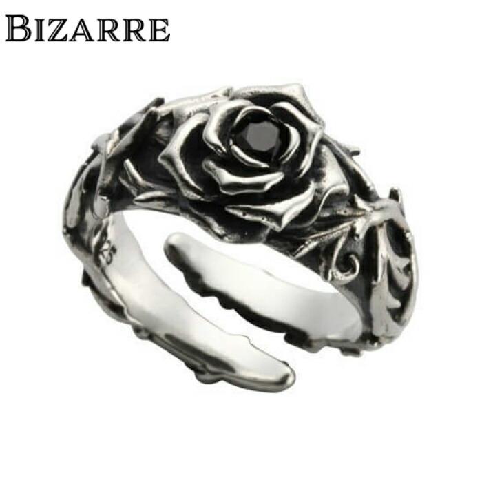 【BIZARRE/ビザール】シークレットローズシルバーリング 薔薇 ローズリング シルバー925 SILVER925 フリーサイズ