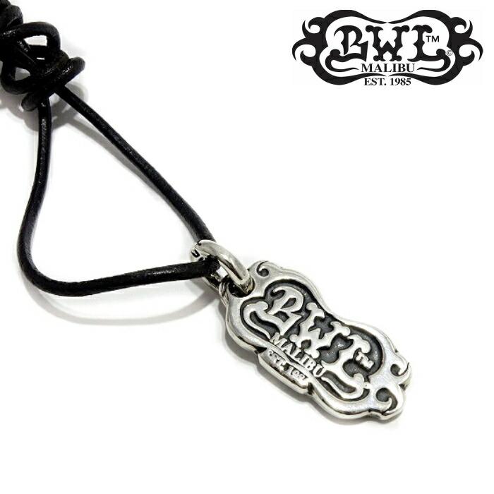 【Bill Wall Leather/ビルウォールレザー】BWL Logo w/leather cord BWLロゴ/レザーコード シルバーアクセサリー メンズアクセサリー 革ひも Silver925