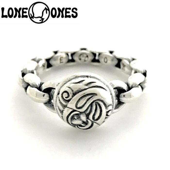 【LONE ONES/ロンワンズ】Mini Silk Link and Nest Ring / ミニシルクリンクアンドネストリング レナードカムホート Leonard Kamhout 指輪 シルバーアクセサリー メンズアクセサリー silver925 シルバーリング Ring