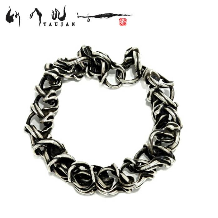 【TAUJAN/タウジャン】2612-06(C/ロングサイズ) シルバーアクセサリー ブレスレット Silvet925 bracelet メンズアクセサリー シルバー925