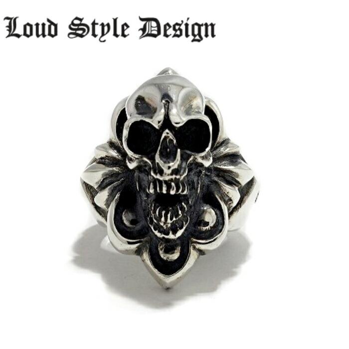 【Loud Style Design/ラウドスタイルデザイン】Lucy in the Shadow with Distracrion Ring lsr-011 スカルリング LSD メンズアクセサリー skull ring