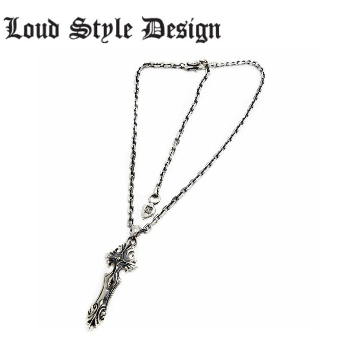 【Loud Style Design/ラウドスタイルデザイン】- VENDETTA - cross 十字架 クロスネックレス メンズ シルバー925 メンズアクセサリー
