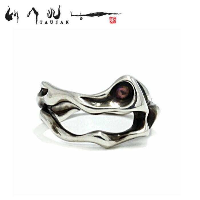 【TAUJAN/タウジャン】222-04 シルバーアクセサリー 脈 Silver925 細身 メンズ リング 指輪 メンズアクセサリー シルバー925