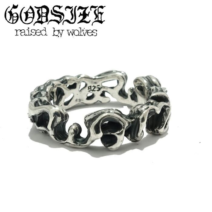 【GODSIZE/ゴッドサイズ】Palmette Scroll Ring パルメットスクロール シルバー リング メンズ SUGIZO スギゾー 着用アクセサリー ヤシの木