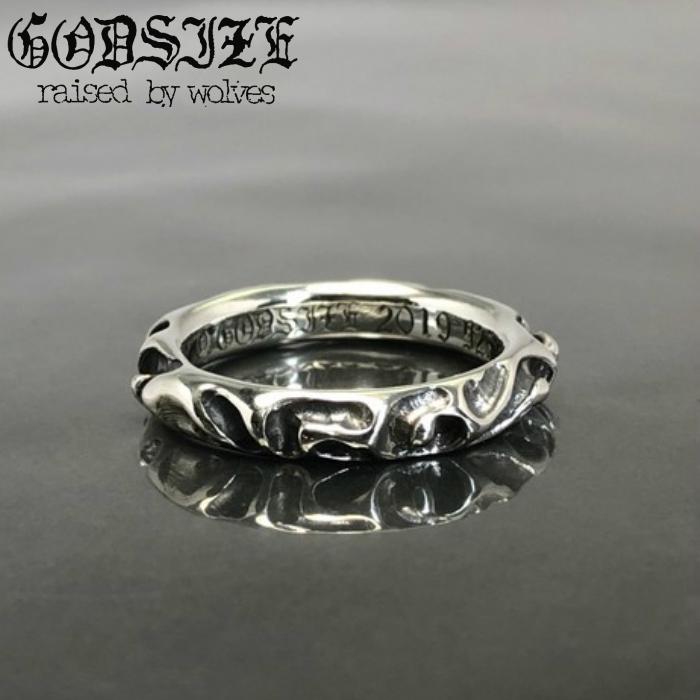 【GODSIZE/ゴッドサイズ】Creter Ring クレーターリング silver925 シルバー リング メンズ SUGIZO 着用アクセサリー 細身