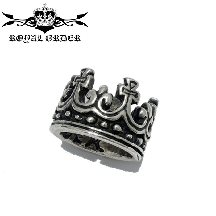 【Royal Order/ロイヤルオーダー】TINY CROWN RING PENDANT/タイニークラウンリングペンダント 王冠 チャーム 被せる シルバーアクセサリー メンズアクセサリー シルバー925