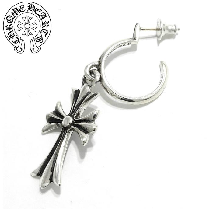 【CHROME HEARTS/クロムハーツ】Tiny CH Cross Hoop/タイニーシーエイチクロスフープイヤリング フープピアス クロス Silver925