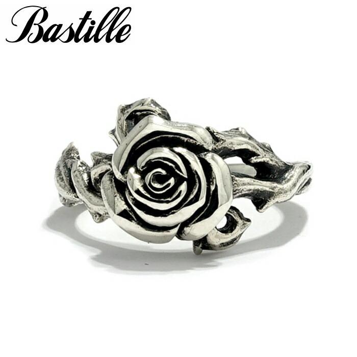 【Bastille/バスティーユ】プティローズリング シルバー リング 薔薇リング ローズ ピンキーリング