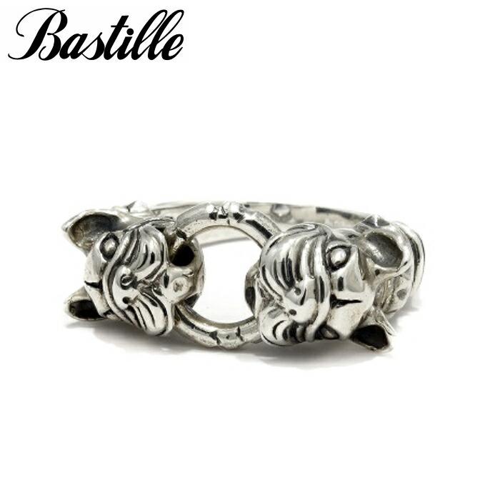 【Bastille/バスティーユ】ルシアン リング フレンチブルドッグ ブルドッグ アニマル 犬 Ring 2匹 シルバーアクセサリー メンズアクセサリー