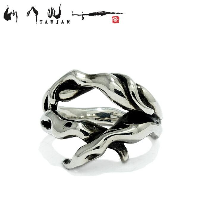 【TAUJAN/タウジャン】309-02 シルバーアクセサリー 脈 メンズ リング 指輪 メンズアクセサリー シルバー925