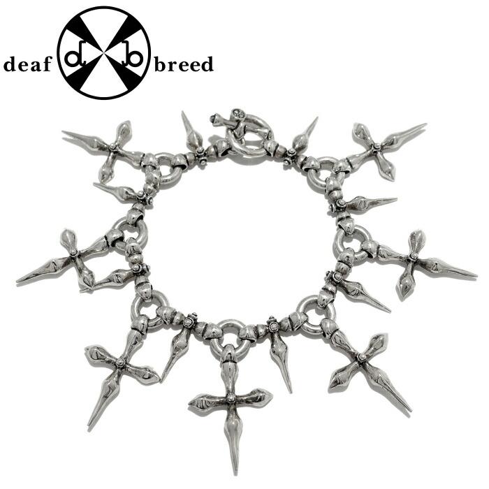 【deaf breed/デフブリード】B-26-L Lサイズ ブレスレット メンズブレスレット 個性派 クロス