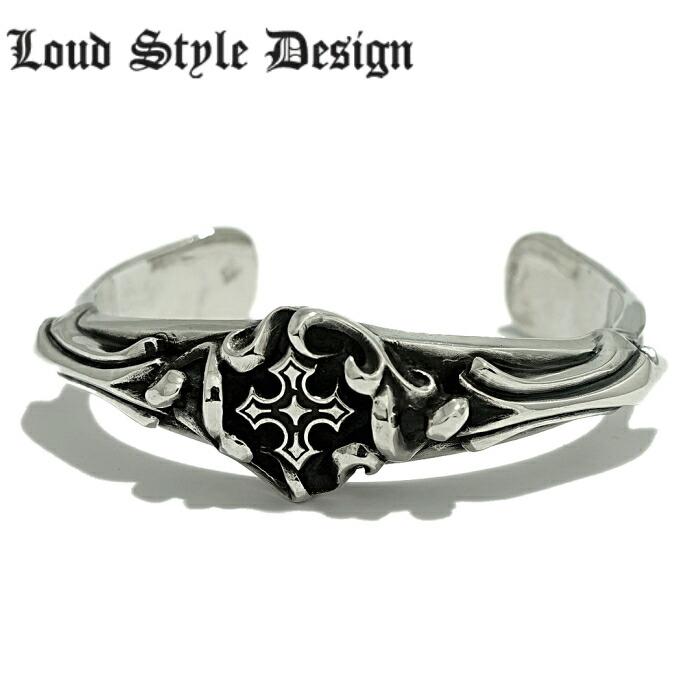 【Loud Style Design/ラウドスタイルデザイン】UBG-001 LSD クロス バングル メンズアクセサリー シルバー925 Silver925