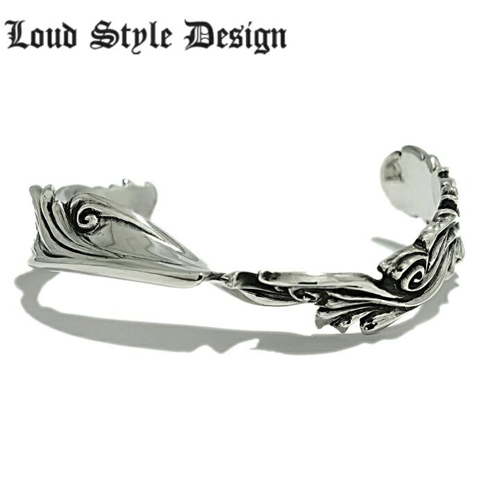 【Loud Style Design/ラウドスタイルデザイン】UBG-006 LSD 唐草 バングル メンズアクセサリー シルバー925 Silver925