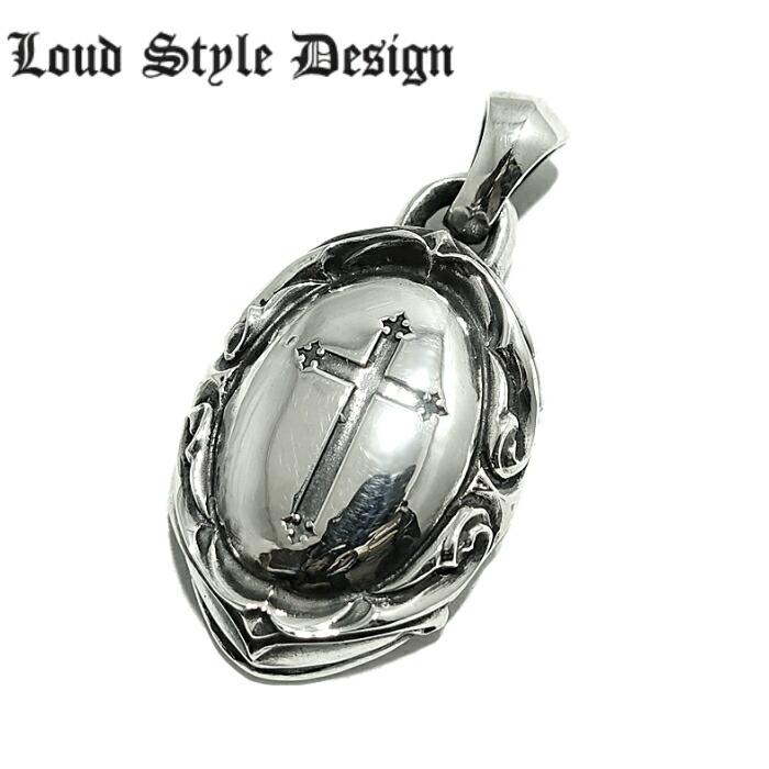 【Loud Style Design/ラウドスタイルデザイン】- Blind - LGH-013 LSD 鏡面 クロス メンズアクセサリー シルバー925 チェーン付