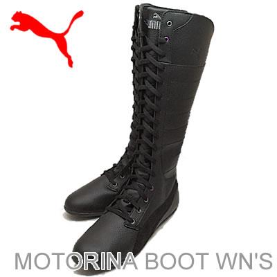 PUMA (PUMA) MOTORINA BOOT WN's (women's モトリーナ boots), Black/Black