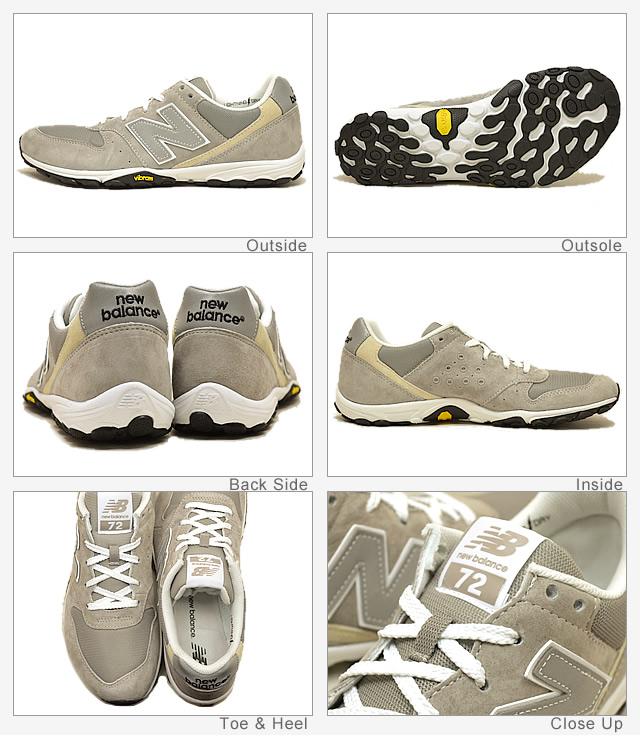 New balance (균형) ML72 GRAY (회색) [신발/운동 화/신발/베어 풋]