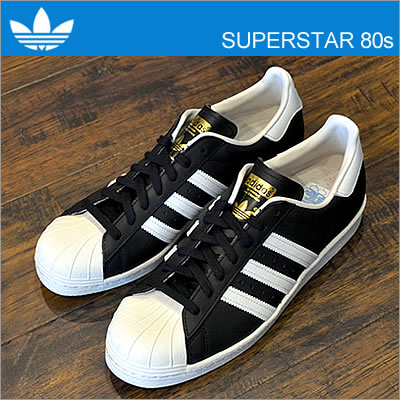 new concept ced33 aaacc adidas( Adidas) SS 80s (superstar 80s) black   white   chalk II  shoes,  sneakers shoes   smtb-TD   saitama