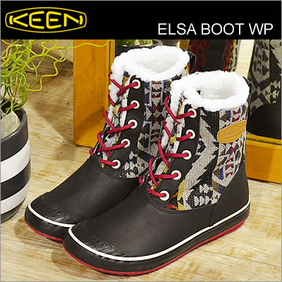 KEEN keen Elsa Boot WP Elsa boots waterproof Chili Pepper Chile pepper  shoes women's boots cold weather waterproof shoes