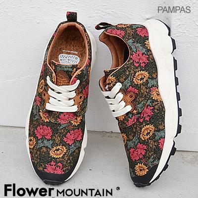 【返品無料対応】【あす楽対応】Flower MOUNTAIN フラワー マウンテンPAMPAS パンパス BLACK(RED) ブラック(レッド) 靴 スニーカー シューズ 【smtb-TD】【saitama】