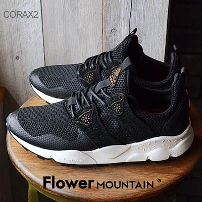 【あす楽対応】【返品無料対応】Flower MOUNTAIN フラワー マウンテン CORAX2 コラックス2 BLACK ブラック 靴 スニーカー シューズ 【smtb-TD】【saitama】